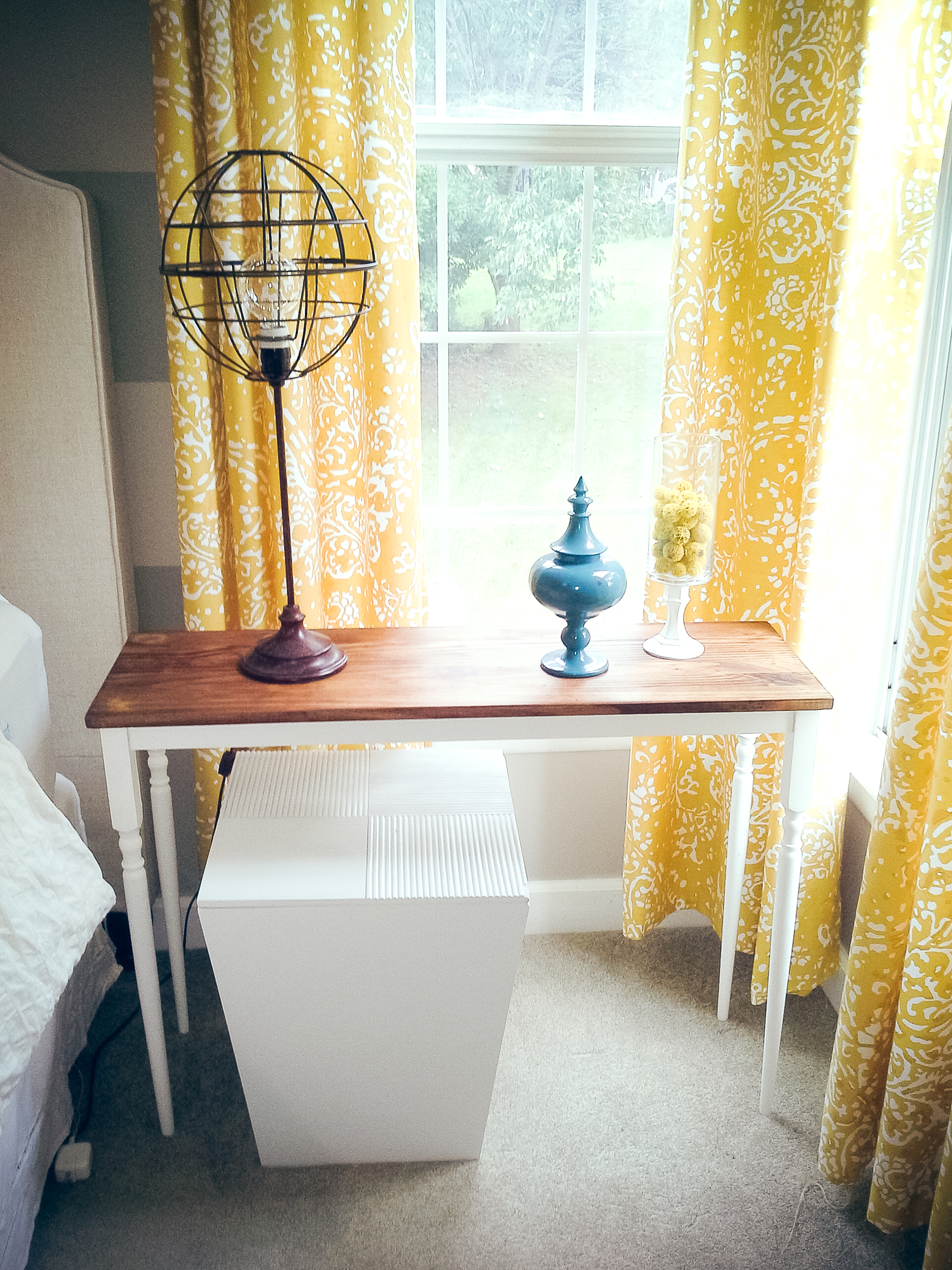 I actually made two lampshades and place them in our master bedroom! I LOVE how they turned out! :)