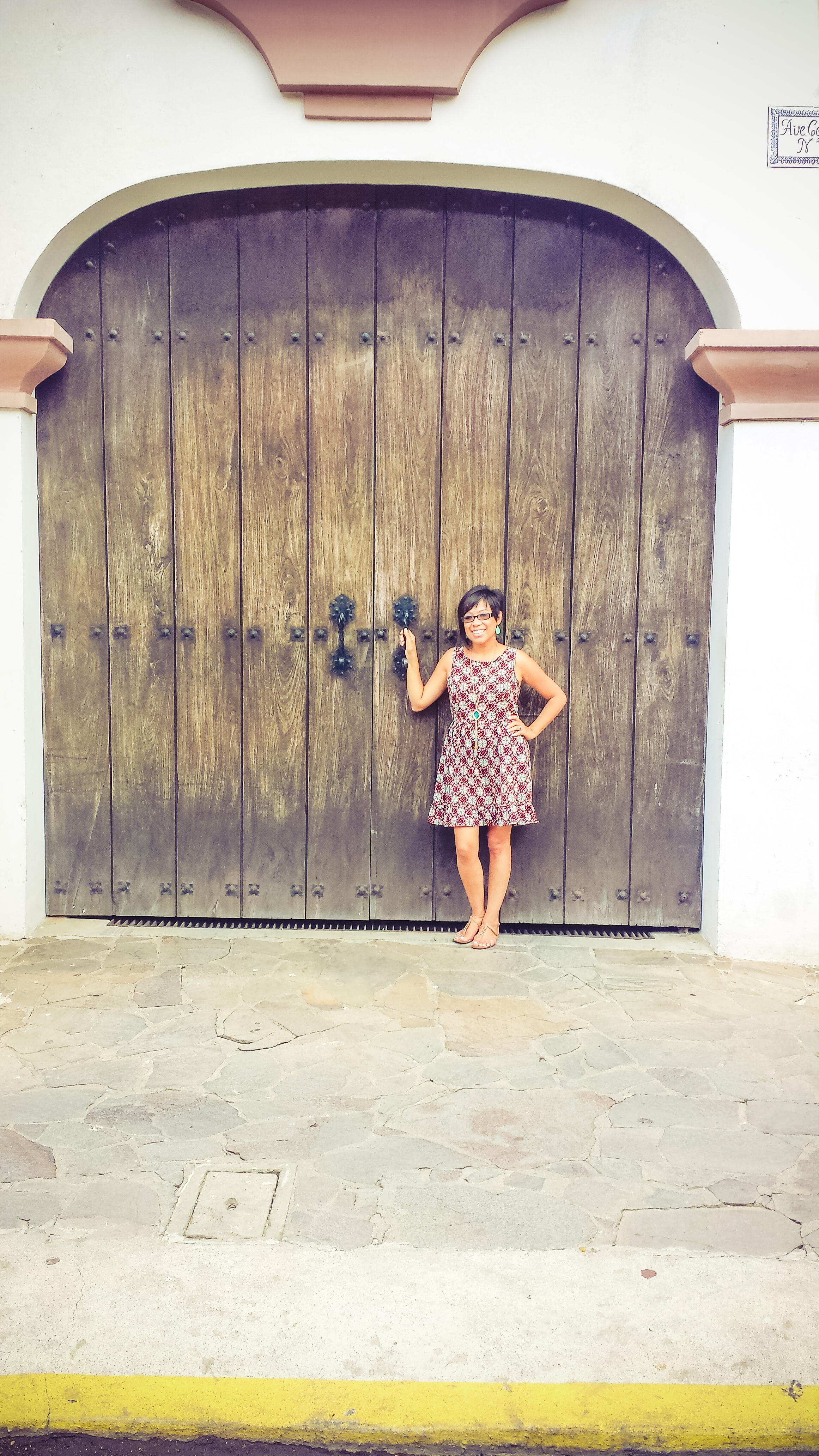 At one of the many doors I admired. Yeah, I have this thing about doors.