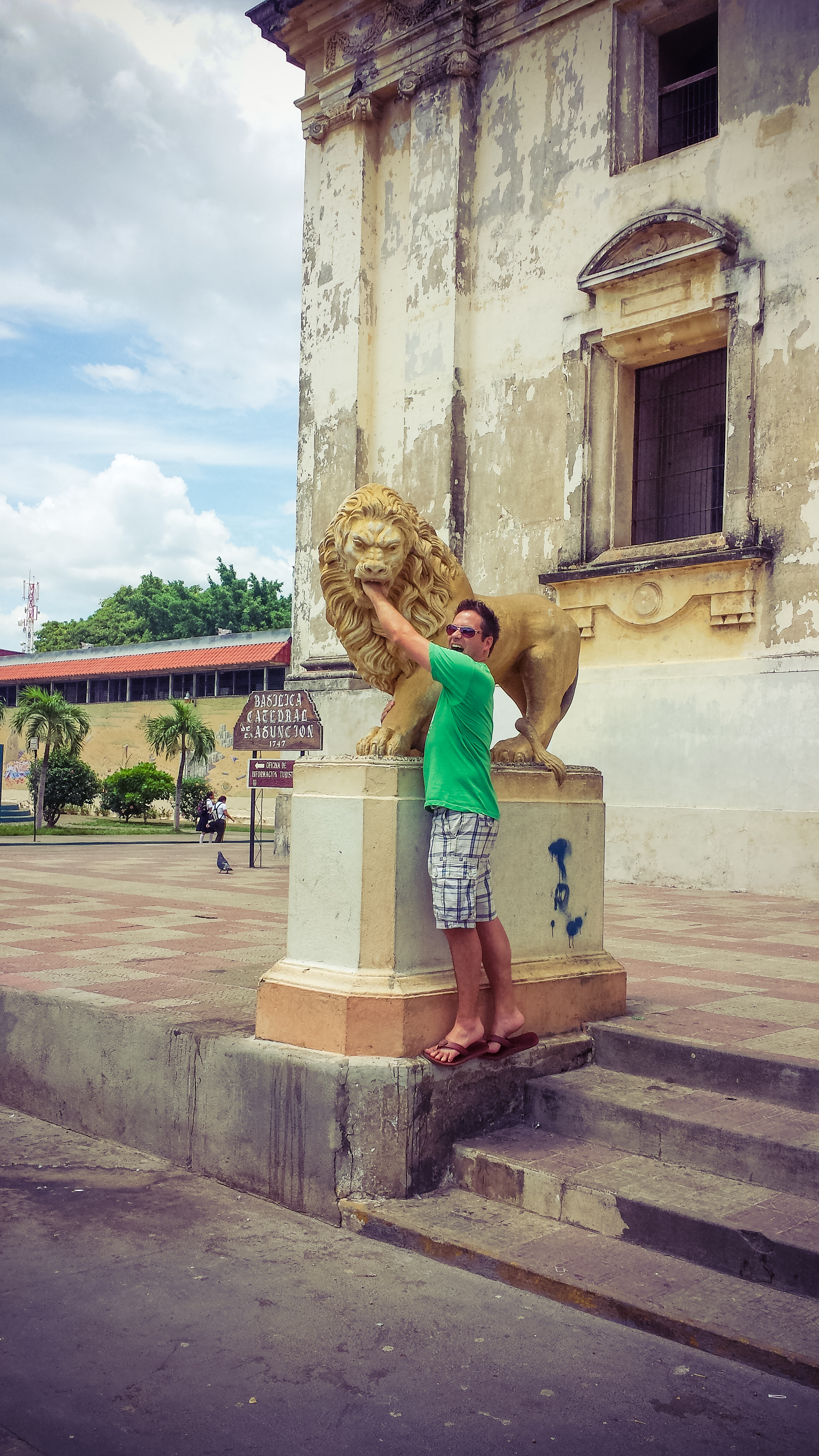 Lions outside of the cathedral