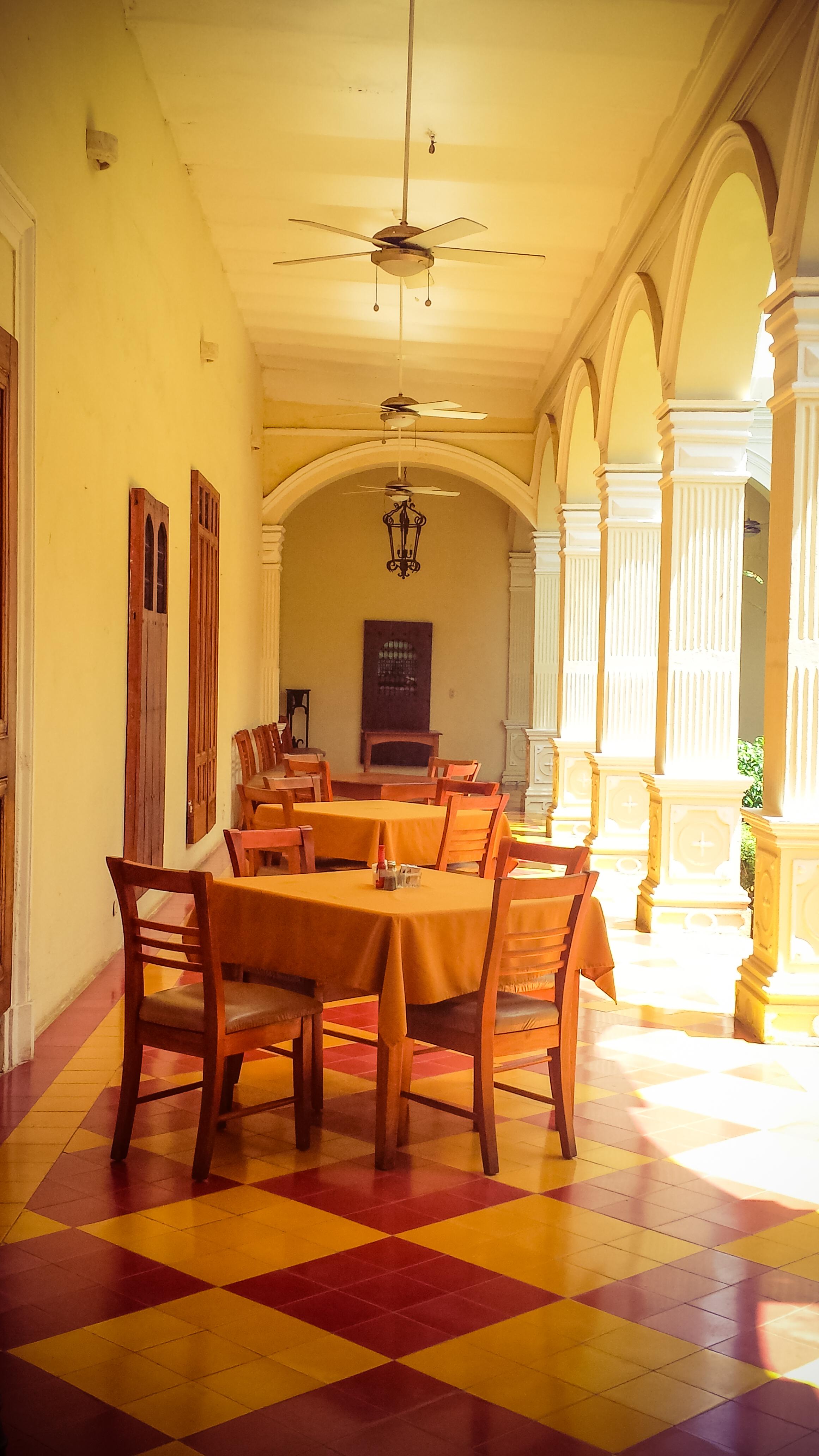 Inside Hotel La Perla