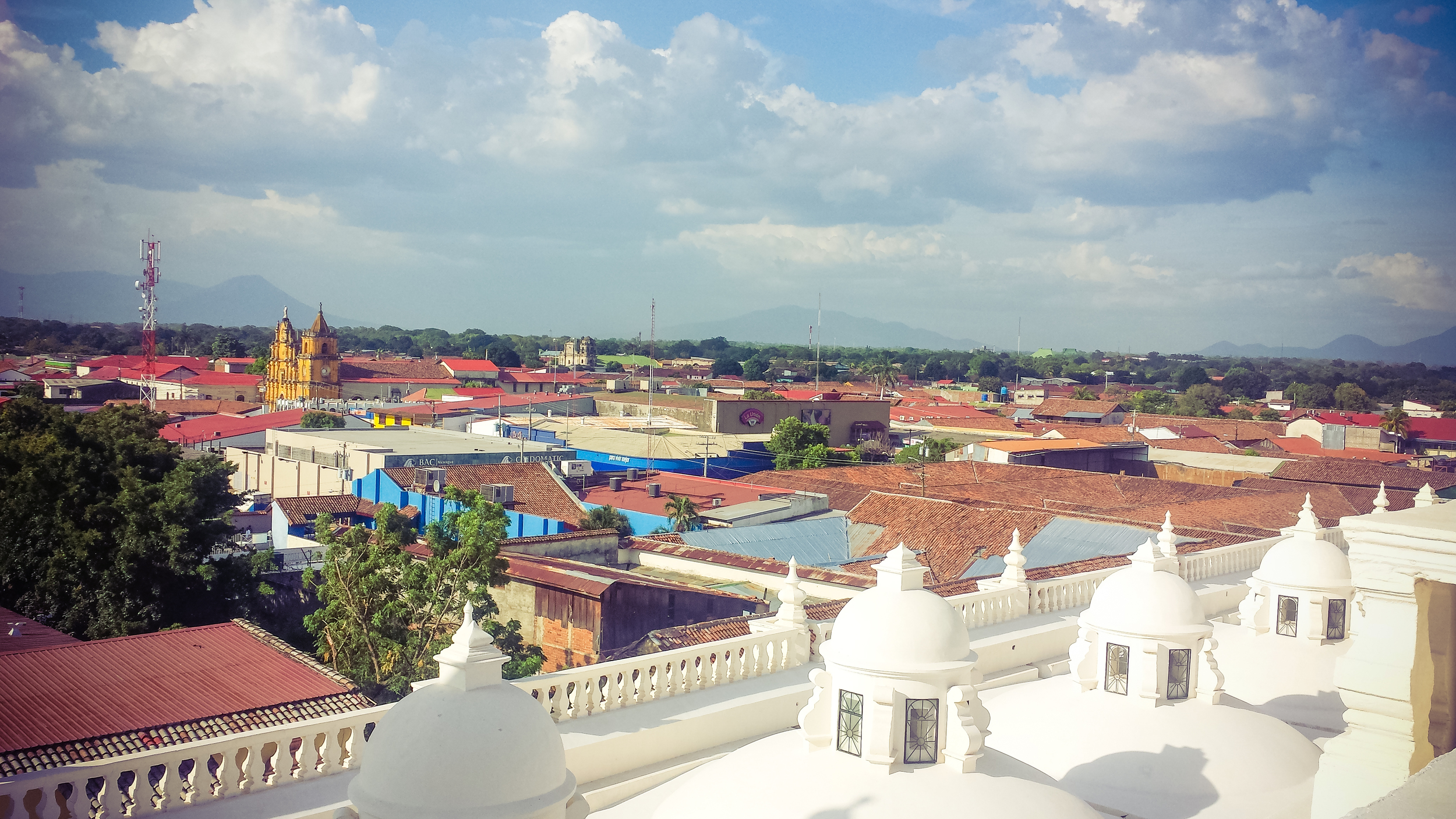 View of Leon from Old Cathedral