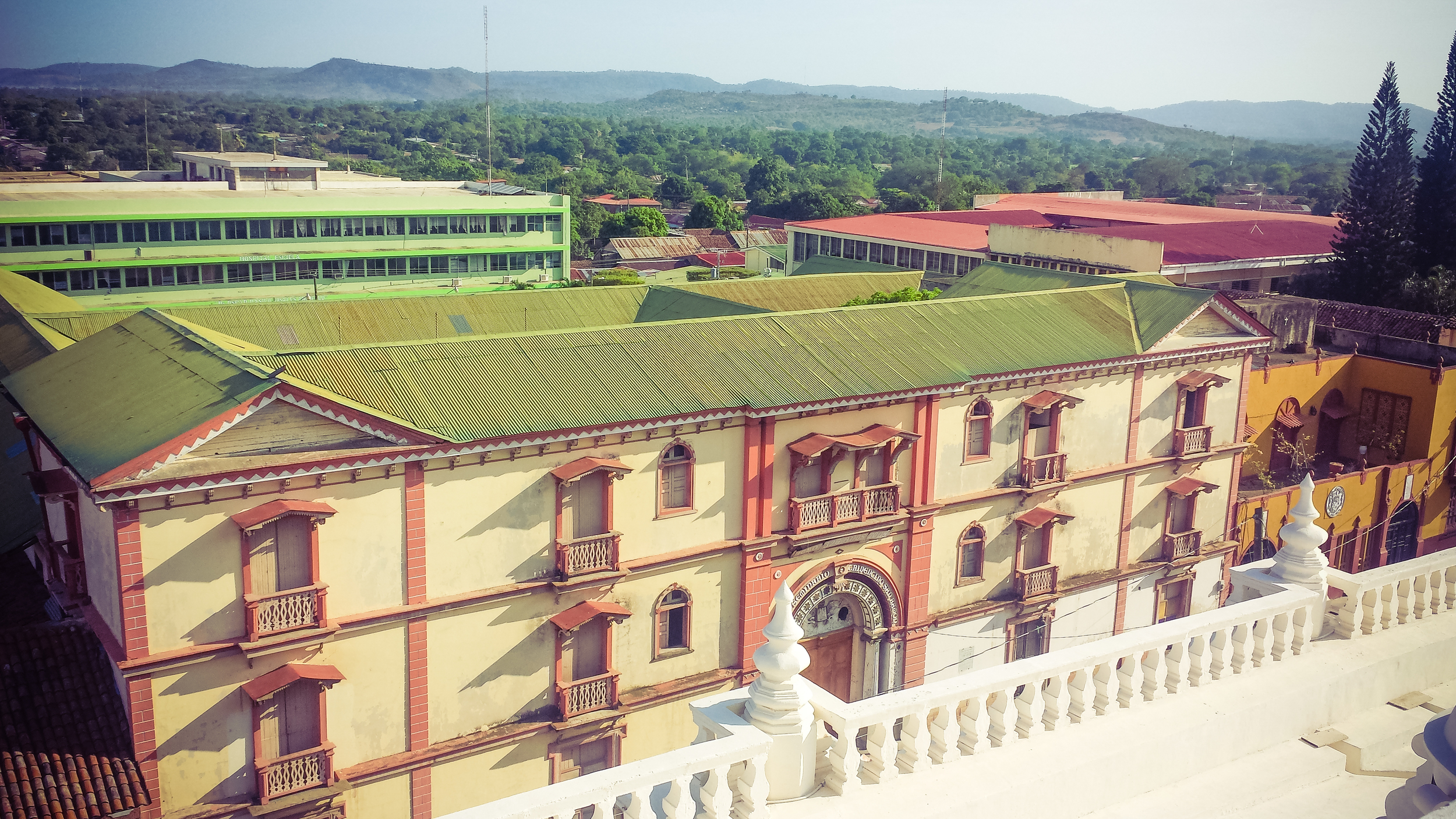 A view of Colegio Tridentino San Ramon built in 1680. That's old indeed.