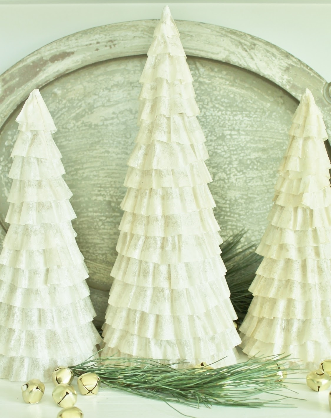 Coffee Filter Cone Trees  Tutorial