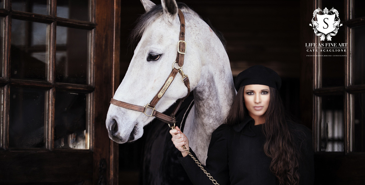 """""""CONCHITA & THE MUSE""""... Amber and a favorite horse Conchita, fierce, strong and beautiful."""