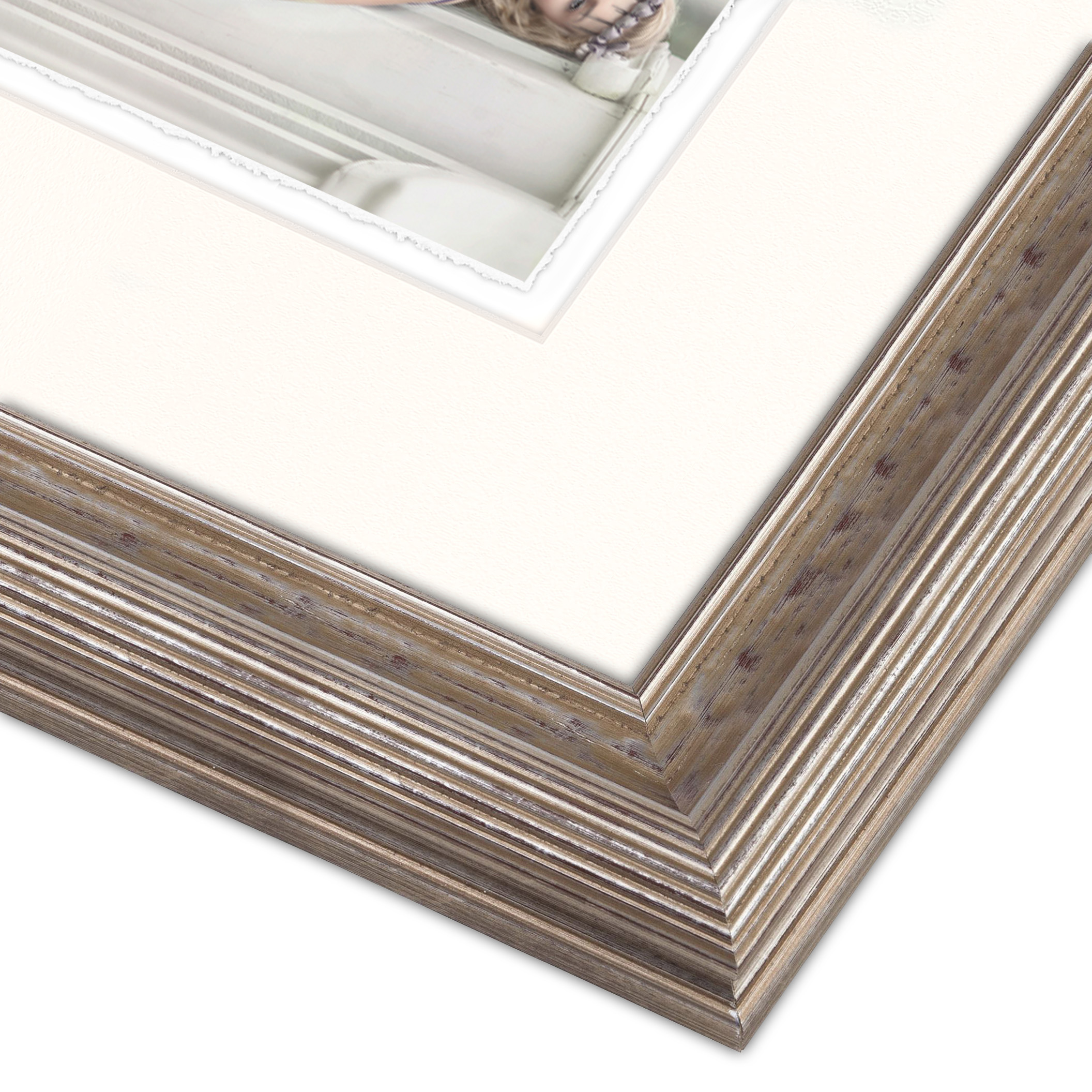 A beautiful wood carved frame from the Cate Scaglione Frame Collection.