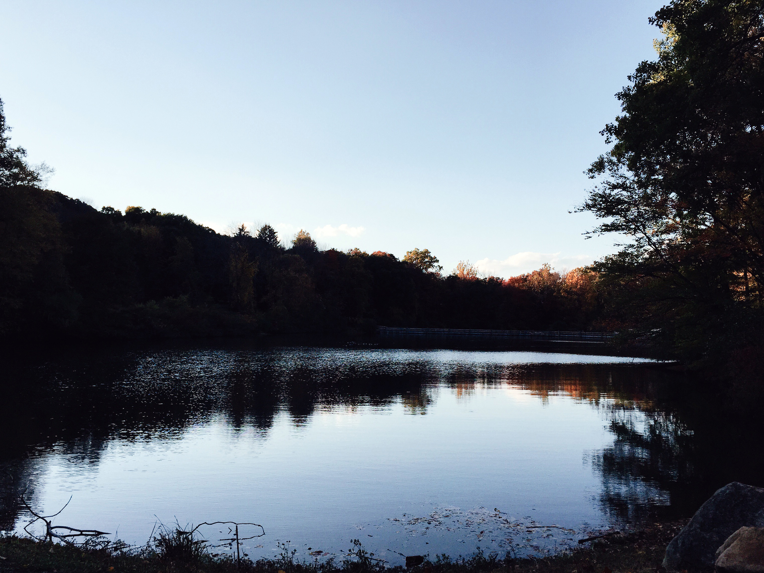 A shot I took of the main lake at the park before heading home around 5:30 PM on 10/8. It was the latest I had stayed.