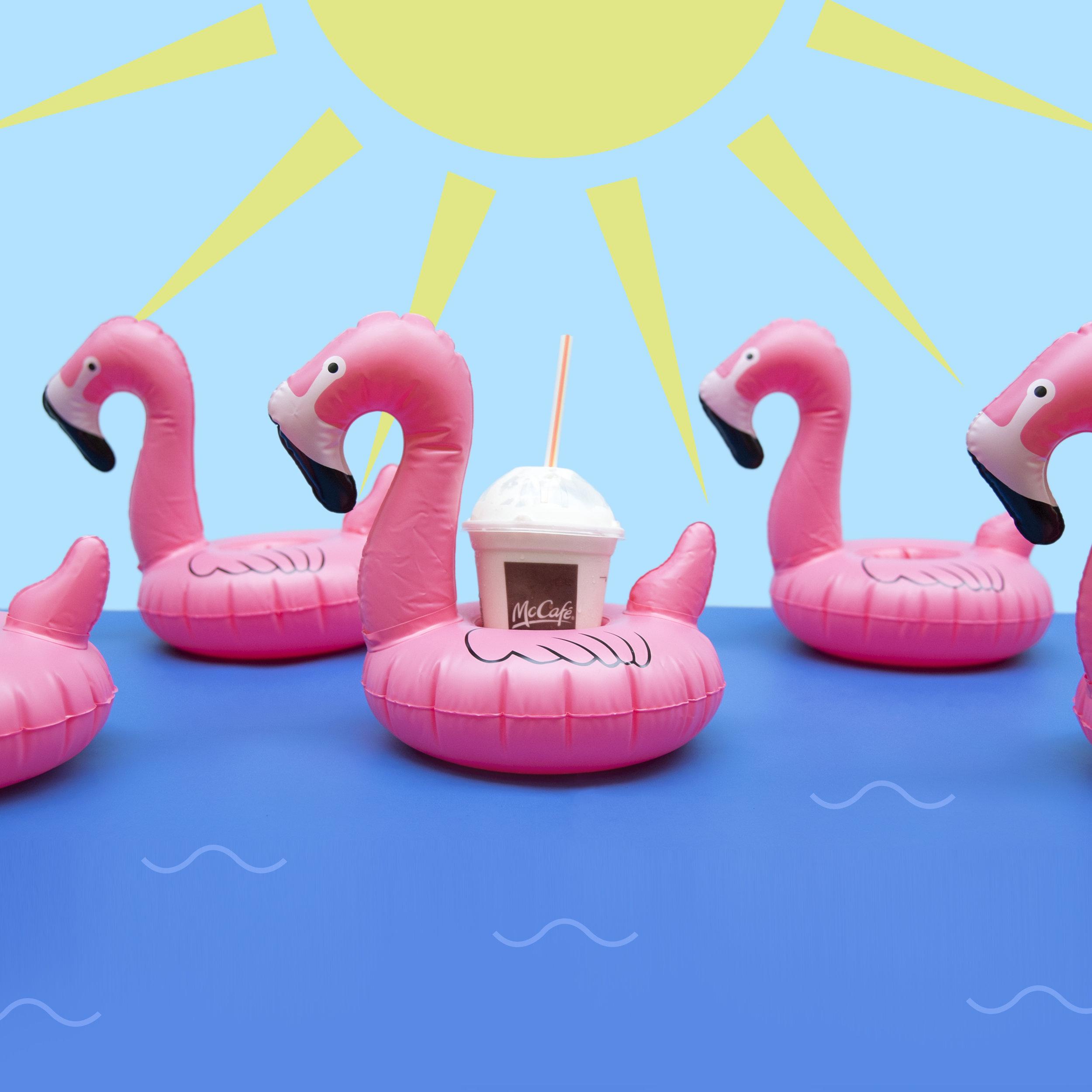amy_chen_design_mcdonalds_mcflurry_drink_summer_flamingos_pool_float_sun_advertising_ad