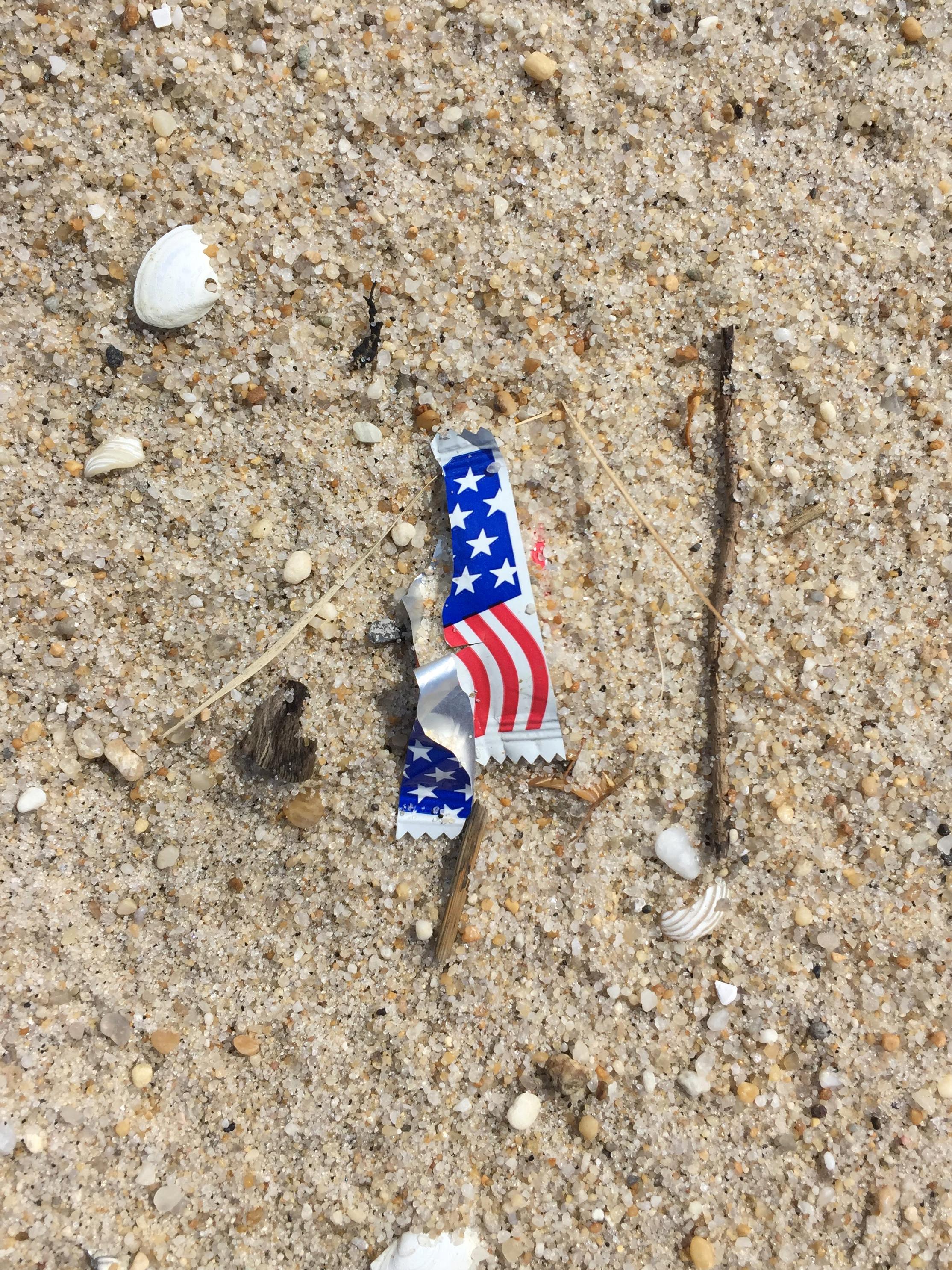 amy_chen_design_sandy_hook_beach_clean_flag_food_wrapper.JPG