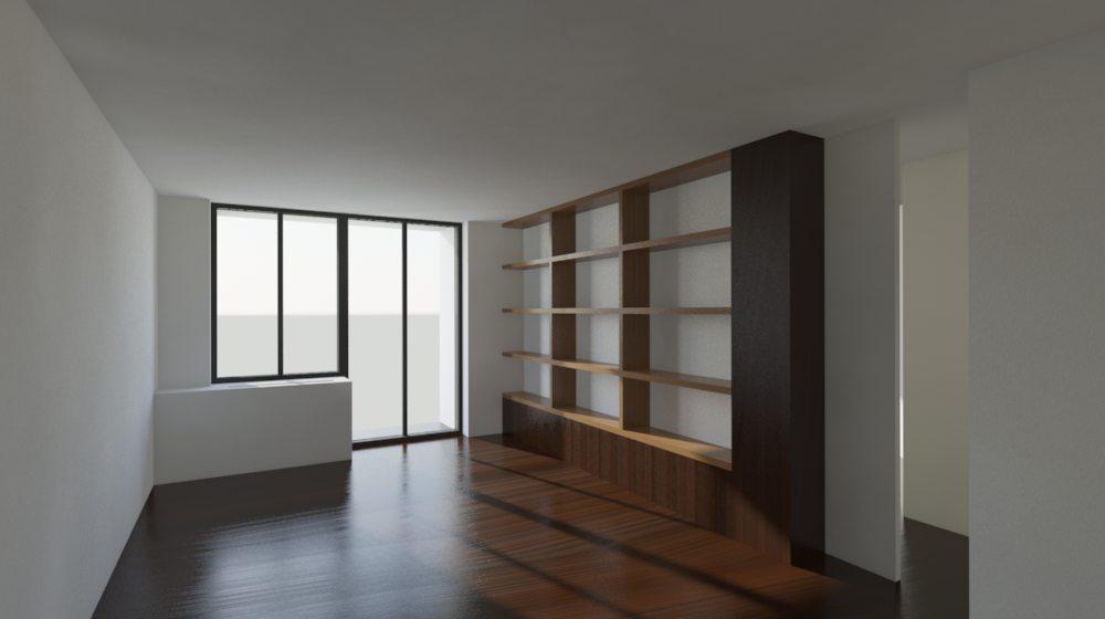 living room millwork option