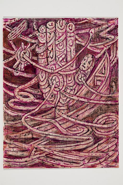 05. Kim Moodie u00ABHands with Bandages in Sinking Boatu00BB  (29cm x 21cm).jpg