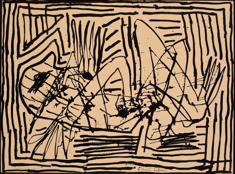 Daniel Erban «Angst» (2005) technique mixte sur papier (70cm x 100cm)