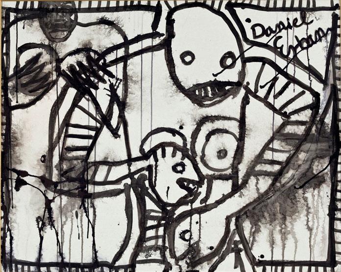 Daniel Erban «Mothers» (2005) technique mixte sur papier (70cm x 100cm)