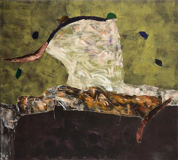 (Marc Garneau «Naguère» (1992) technique mixte sur toile (151cm x 165cm)