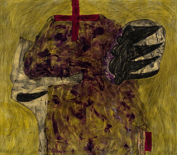 Marc Garneau «Périmètre» (1994) technique mixte sur toile (130cm x 148cm)