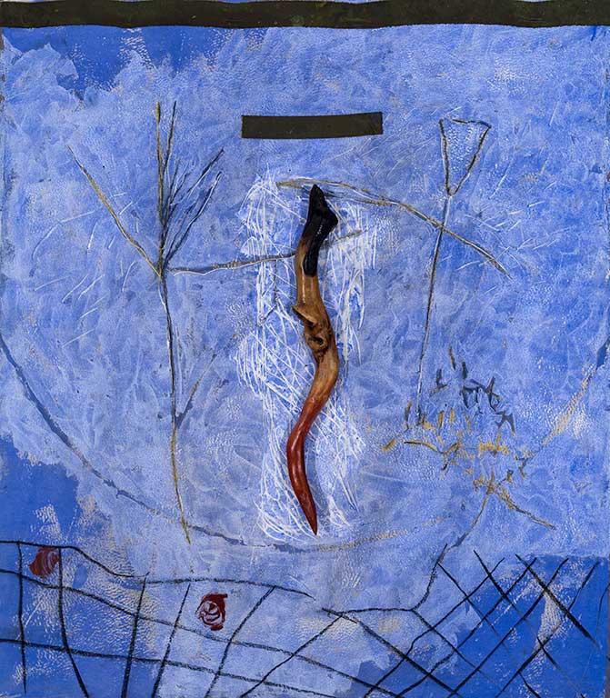 Marc Garneau «Amok II» (20010 technique mixte sur toile marouflé sur bois (122cm x 107cm x 10cm) (MGL3488)
