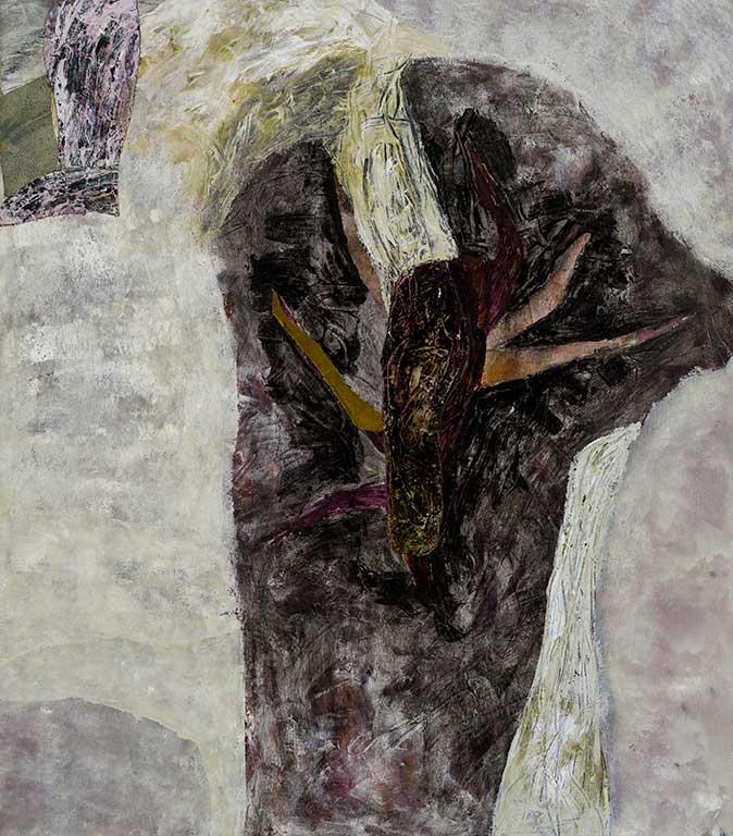 Marc Garneau «Courroux III» (1993) technique mixte sur toile (122cm x 107cm)