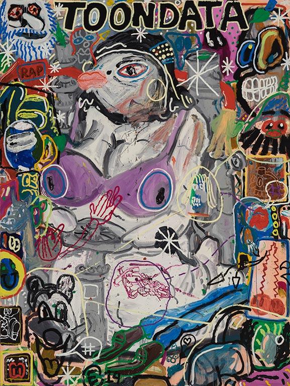 Étienne Chartrand «Toondata Cacouna Isis» (2014) huile sur toile (244cm x 183cm)