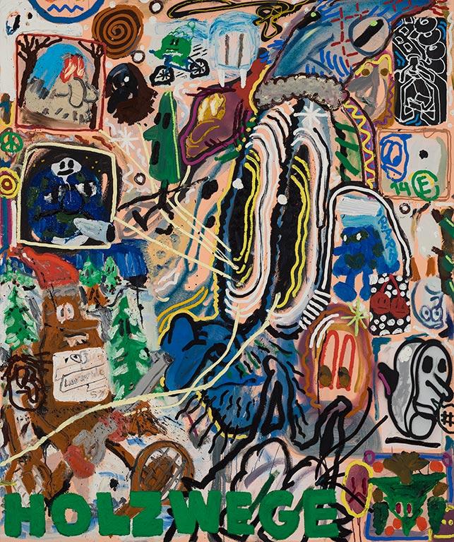 Étienne Chartrand «Holzwege #2» (2014) huile sur toile (183cm x 152cm)