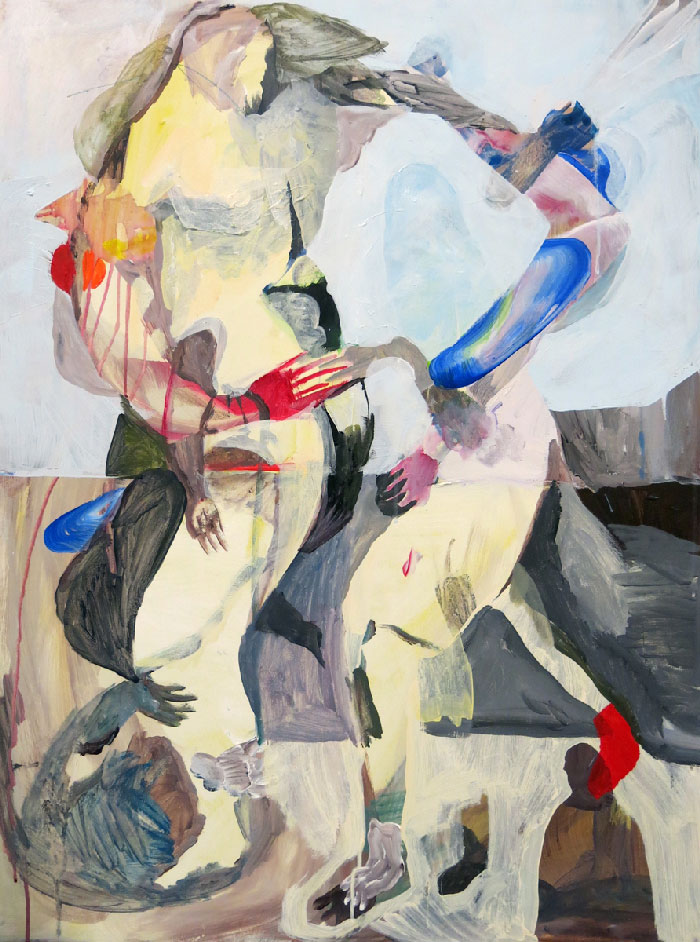 Scott Harber «Sans Titre #06» (2014) acrylique sur bois (76cm x 102cm)