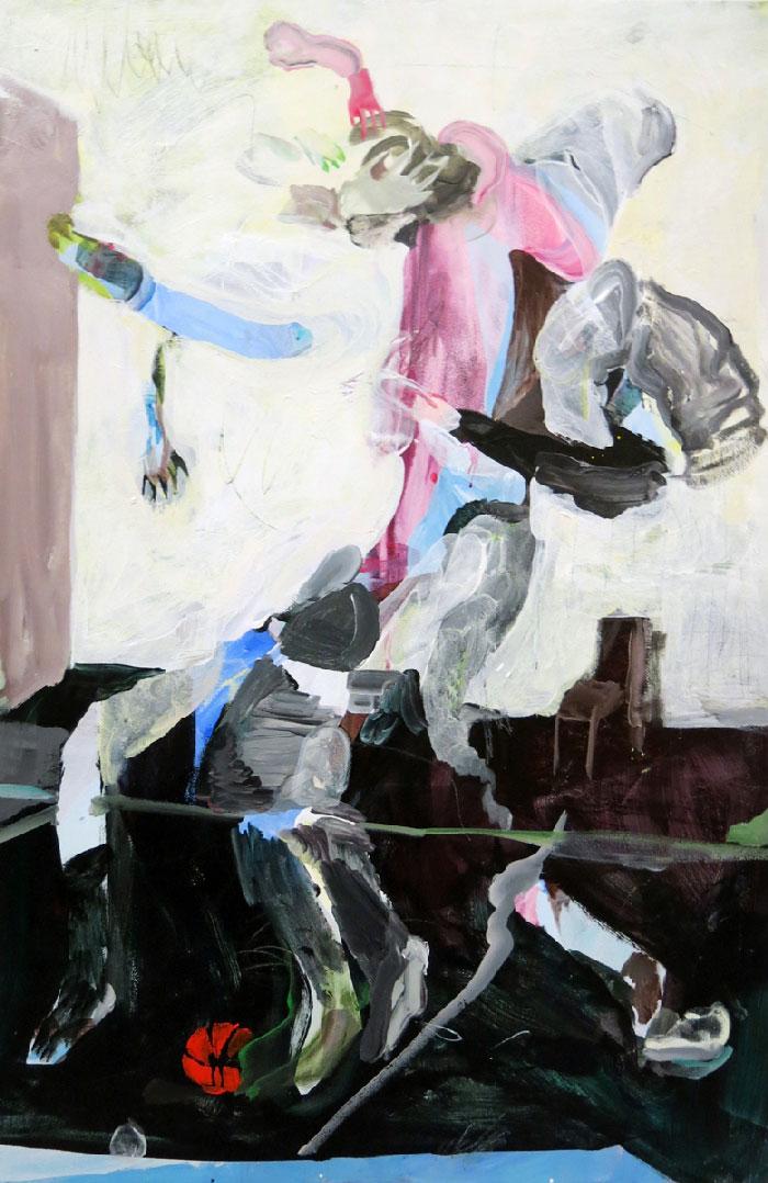 Scott Harber «Sans Titre #08» (2014) acrylique sur bois (76cm x 61cm)