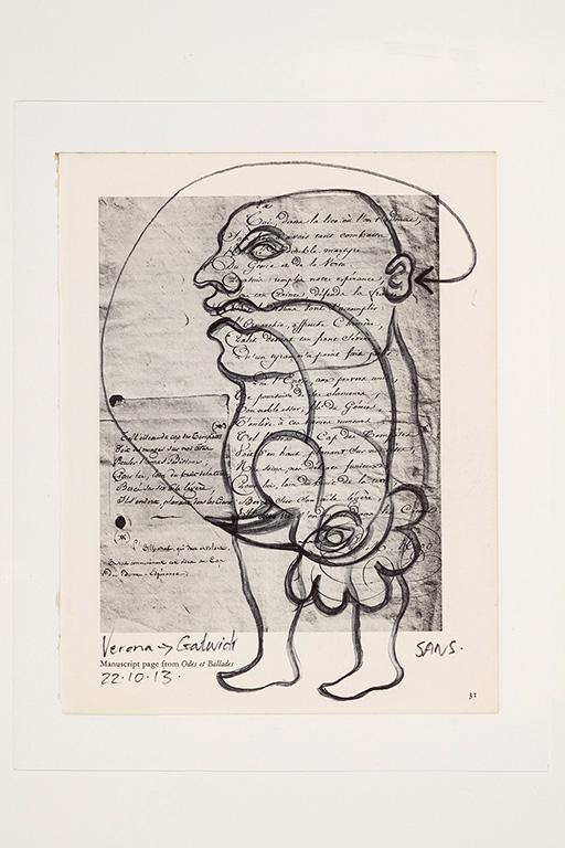 Jim Sanders «Verona Gatwich» (2013) encre sur papier (23cm x 18cm)