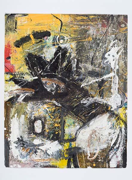 Guy Bailey Brut #11 (2012) technique mixte sur papier (101cm x 67cm)