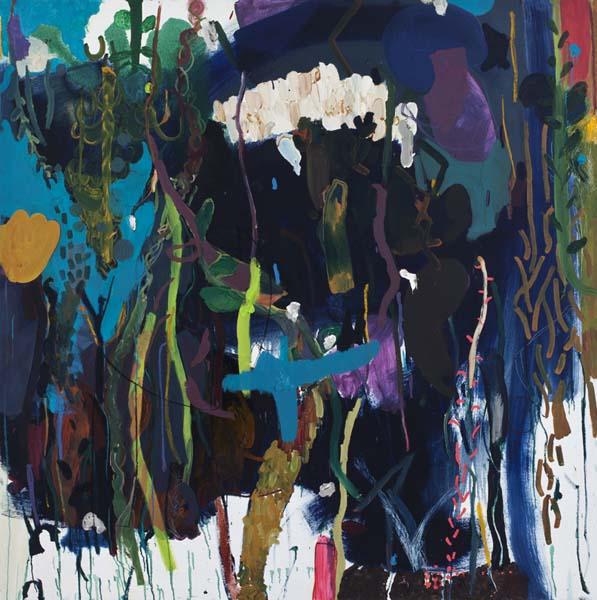 Mirana Zuger  Graveyard Painting  (2010) huile sur toile (168cm x 168cm)