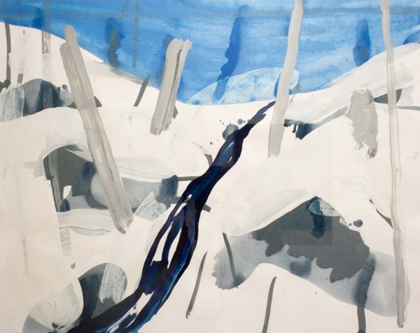 "Beinjamin King  Winter Morning  (2004) acrylique sur toile (19"" x 24"")"