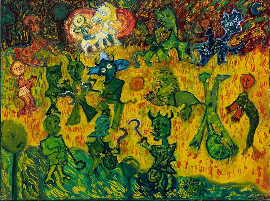 Anick Langelier  Sans titre , acrylique sur toile (76cm x 102cm)