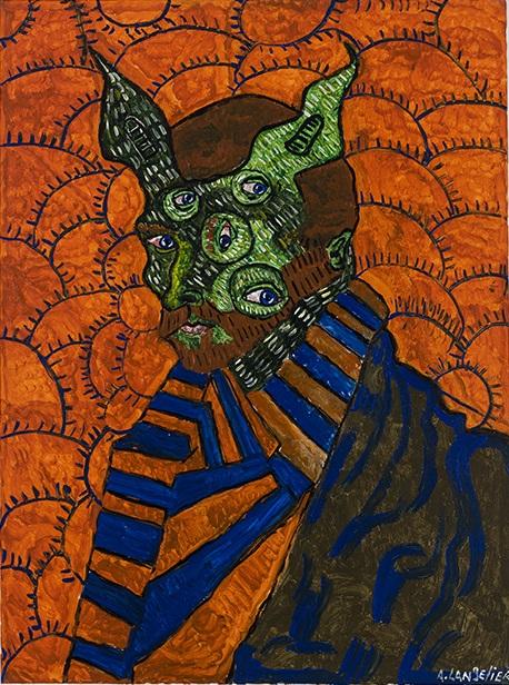 Anick Langelier  Sans titre , acrylique sur toile (102cm x 76cm)