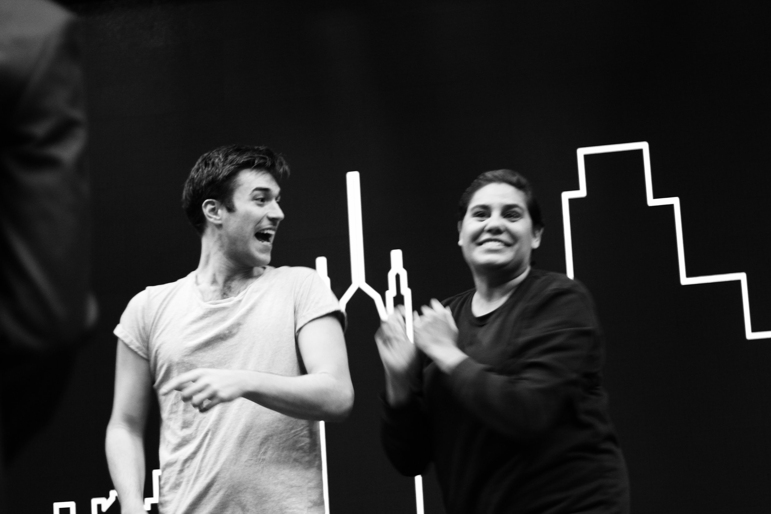 NIc and Dalara - Love and Money, NIDA 2017 - photo by Anna McGrath