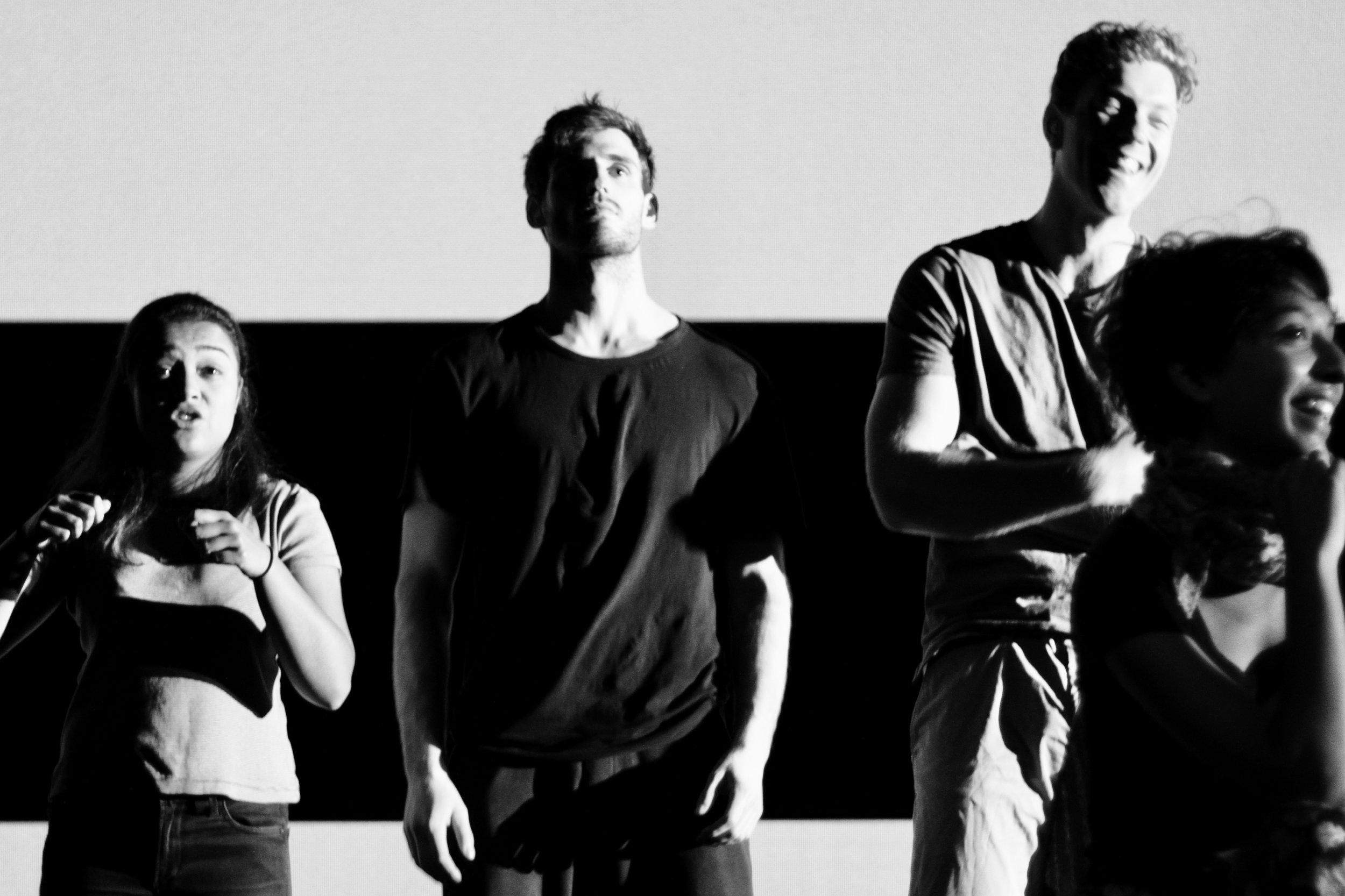 Nikita, Ethan, Jeremiah and Vaish - Love and Money, NIDA 2017 - photo by Anna McGrath