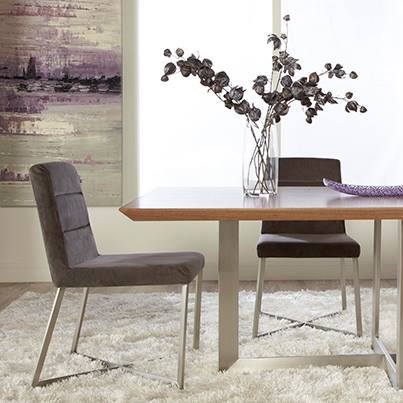 Table and chairs by Euro Style