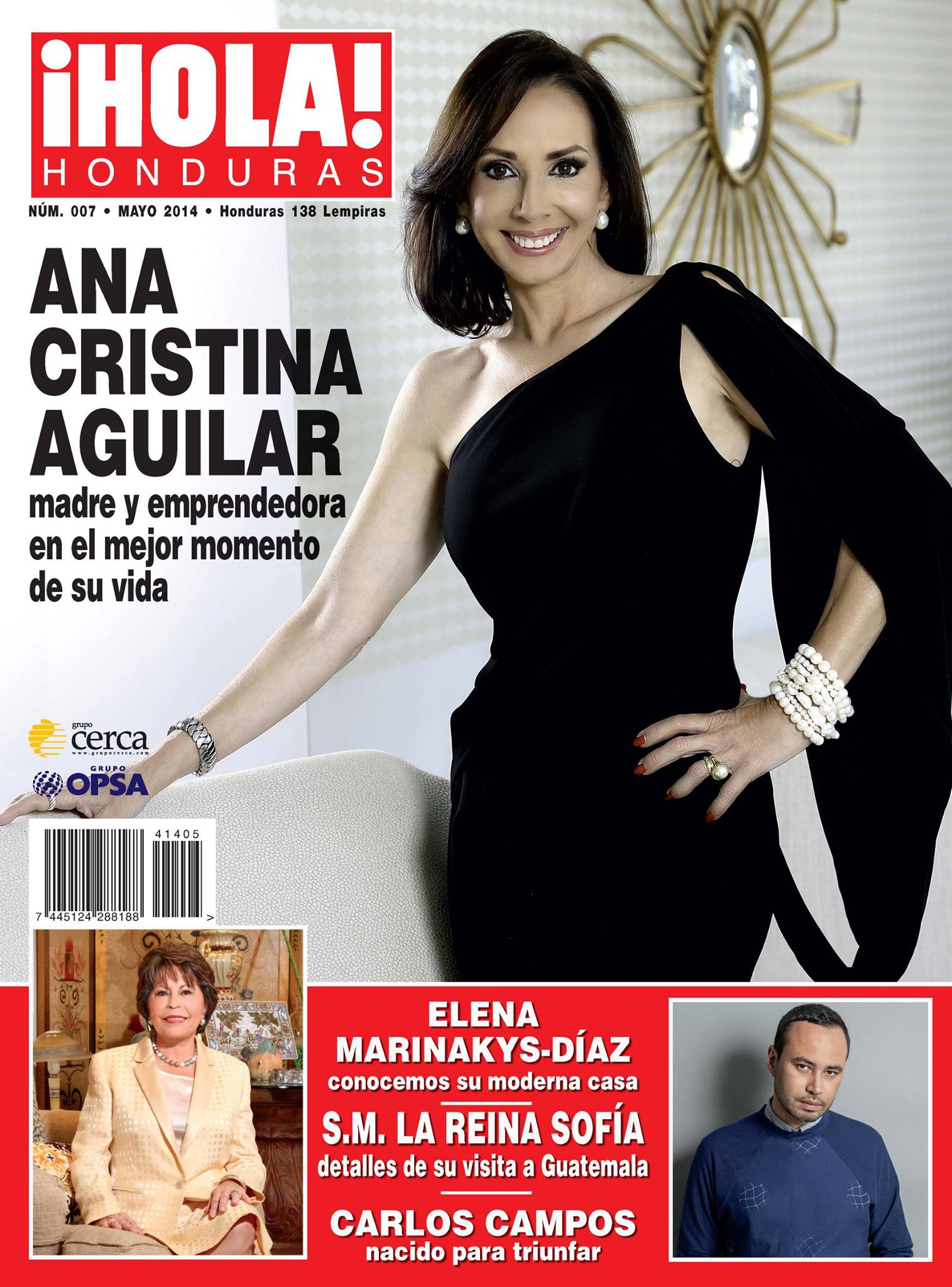 Ana Cristina Aguilar on the cover of Hola! Honduras