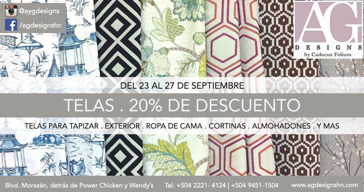 Fabrics sale at A.G. Designs in Honduras