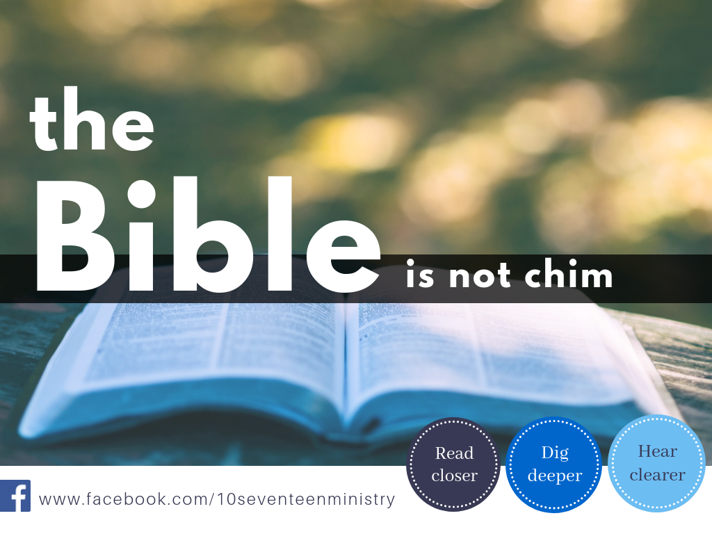 Event:  THE BIBLE IS NOT CHIM   Speaker : Stephen Chan   Date:  28 Feb THU   Time:  7:30 to 10:00pm   VENUE:  ALBY Events  111 North Bridge Road, Peninsula Plaza #05-09 (City Hall MRT)  (Parking available at Capitol Piazza. $3 per entry after 6pm on weekdays)   Fee:  $10 (includes $5 voucher)