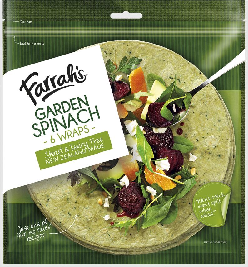 Garden Spinach Wraps Farrah S