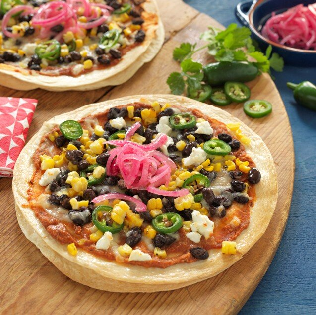 BLACK BEAN & CORN PIZZA