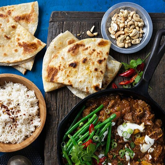 SLOW COOKED LAMB CURRY WITH ROTI