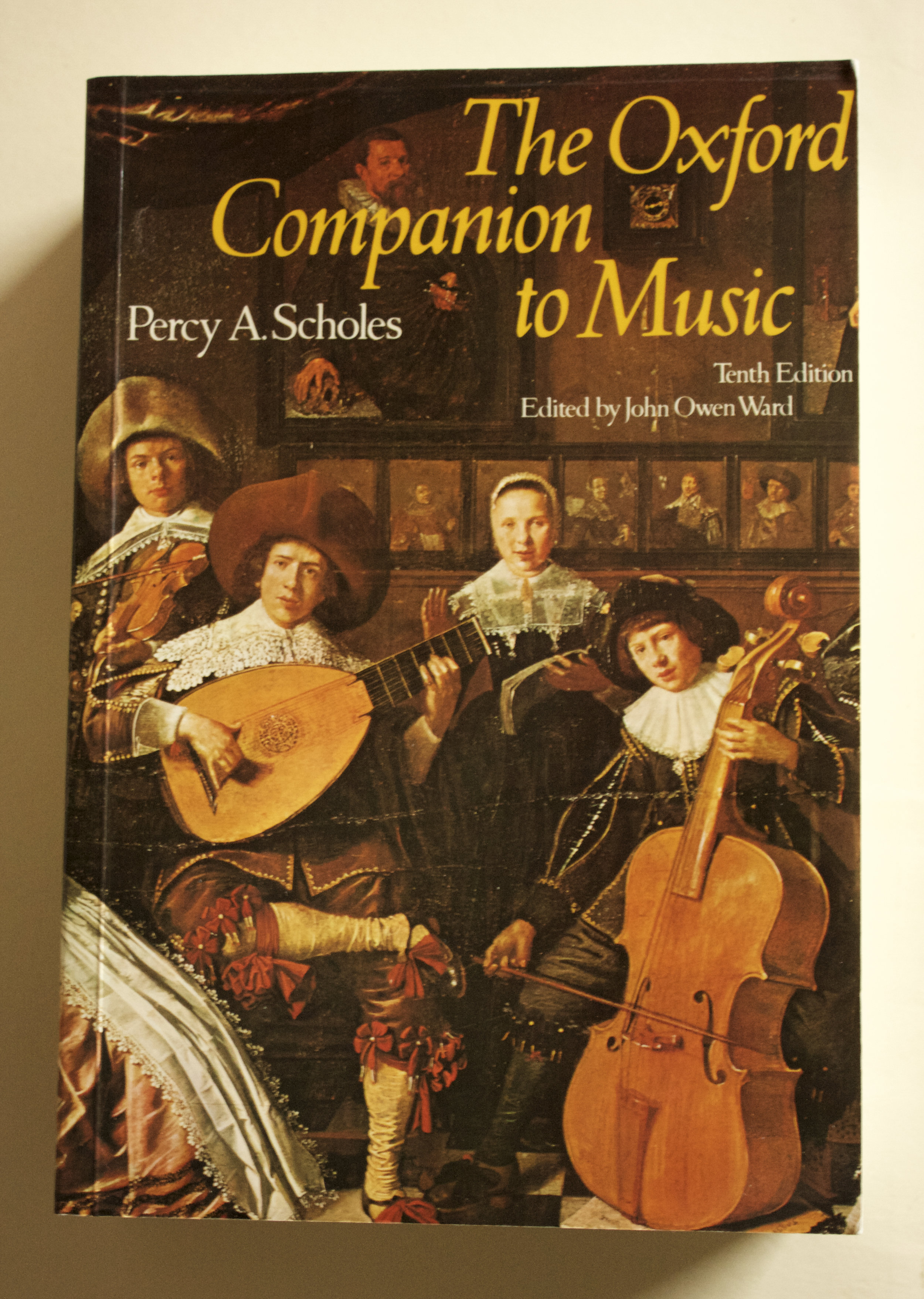 Copy of The Oxford Companion to Music (10th edition) by Percy A. Scholes, edited by John Owen Ward (O.U.P., 1991)