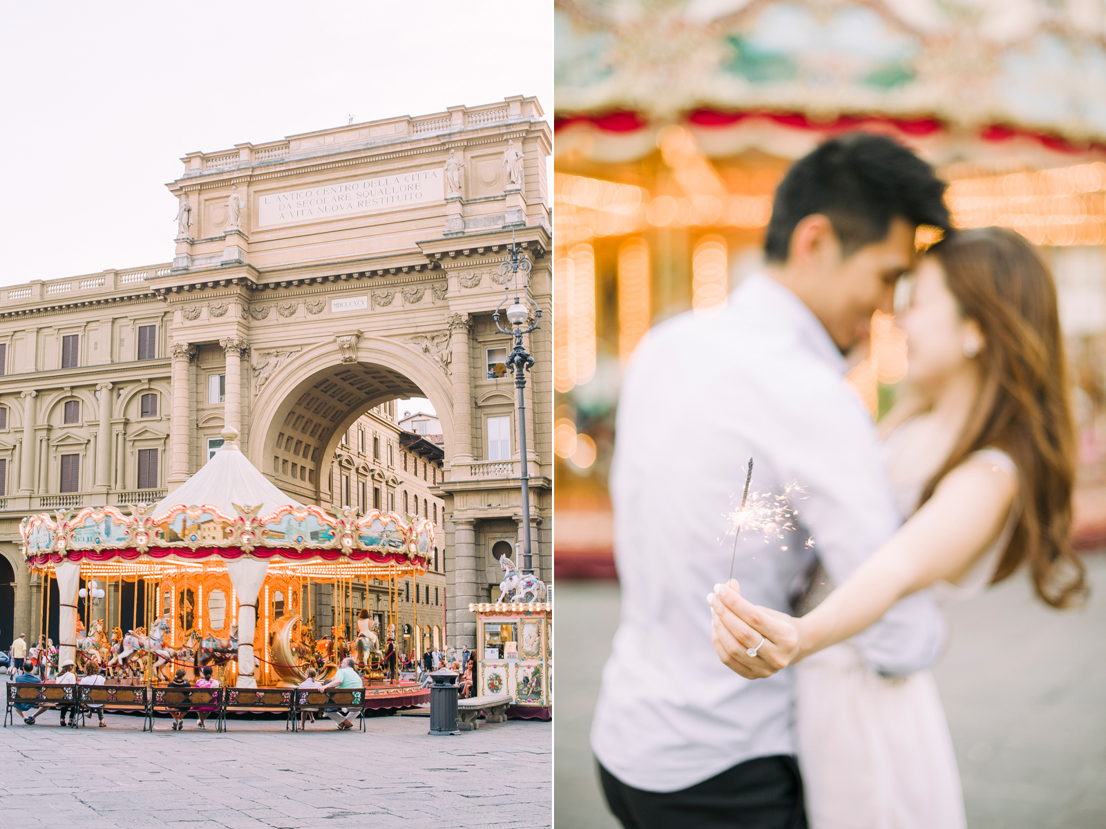 Boheme Moon Fine Art Wedding Photography - Pre-Wedding engagement session in Florence, Italy