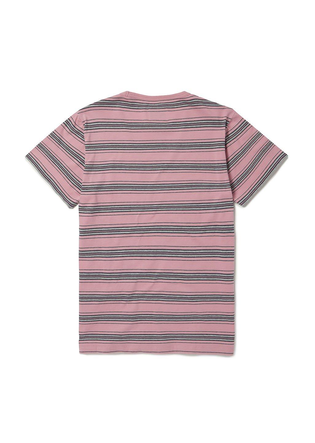 Albam T-Shirt Vintage Stripe Cedar Pink