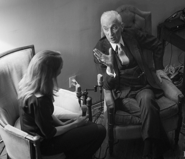 "I ""interviewed"" Gay Talese. This entailed reading a 300 page memoir, composing long lists of questions, practicing them on Leslie, and finally nodding while Gay Talese proved he needs no questions whatsoever."