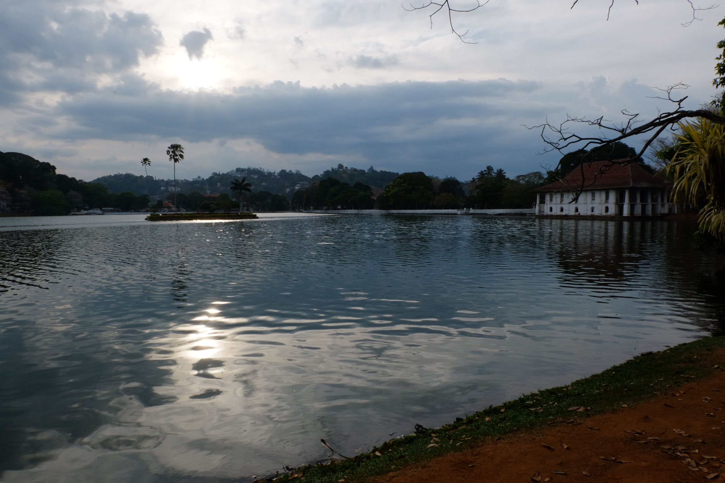 Kandy Lake with the old bath house