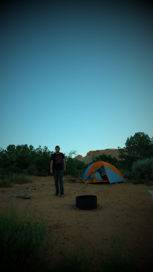 About three hours too early, Sand Flats, Moab, UT.