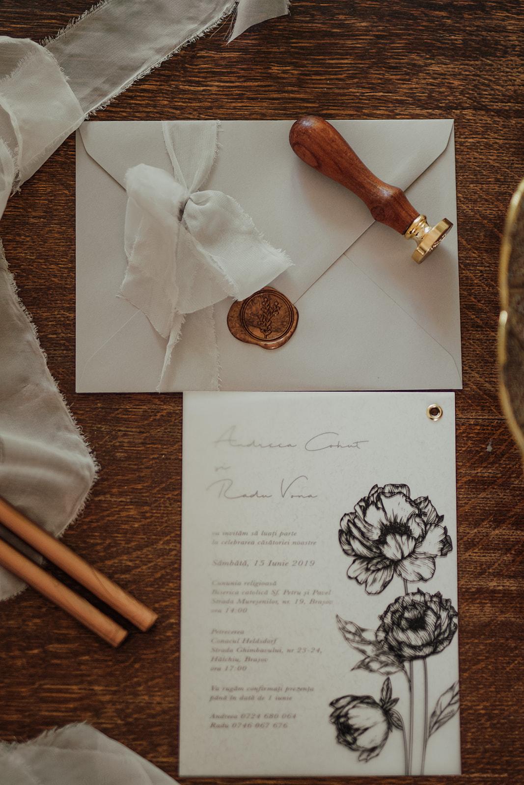 Invitations & Stationery - PapiraAmalia CalligraphyCharminkDepartamentul de Dichis