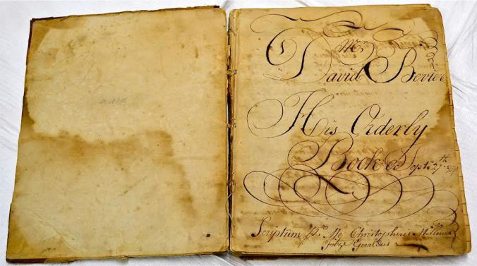 Orderly Book of David Bevier, Fort Montgomery, dating from August 1776 to October 1777.