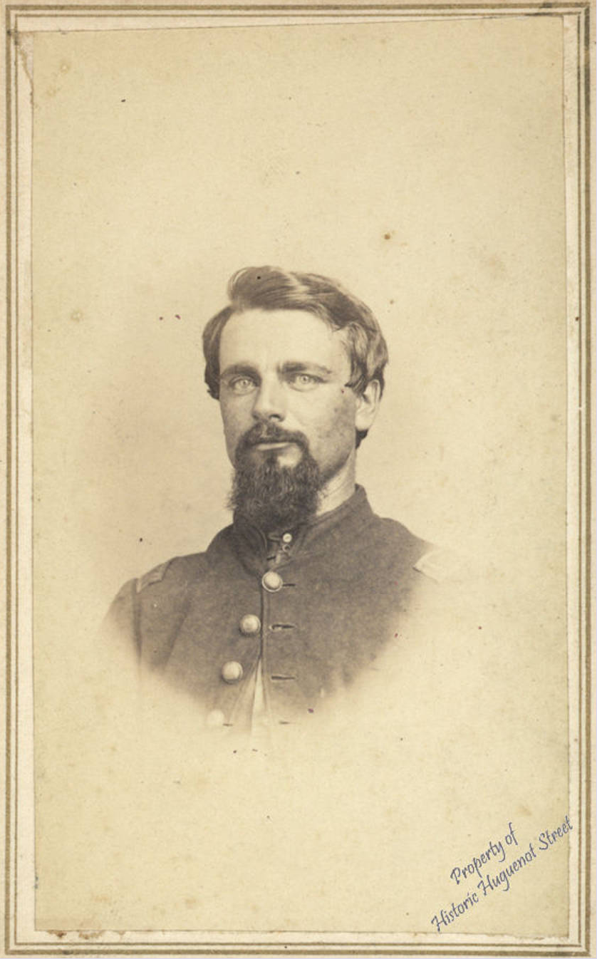 Studio portrait of Johannes LeFevre, ca. 1860 From the  Historic Huguenot Street Collections