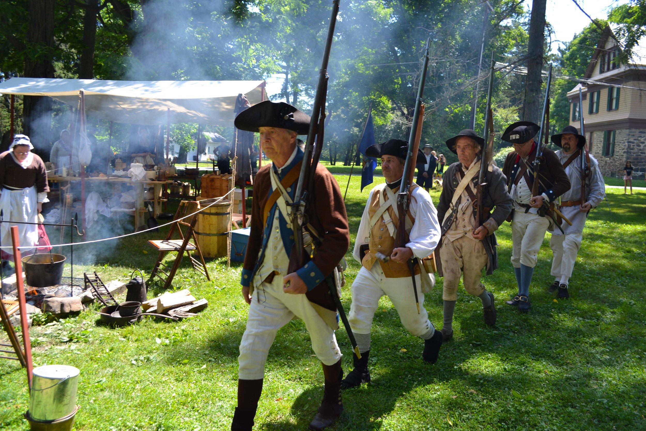 5th New York Regiment reenactors.(Ella Graffin, 2016)