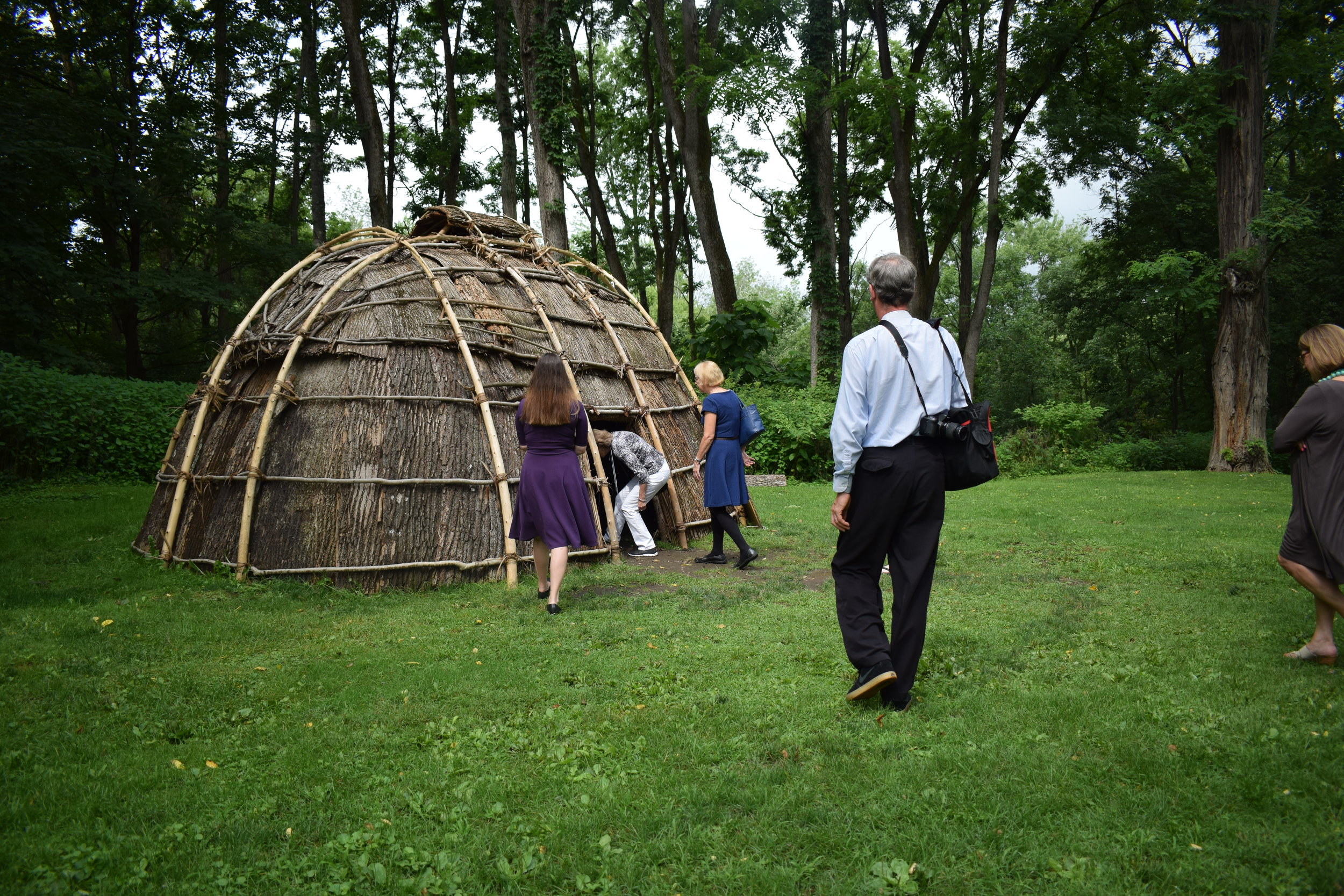 Guests enter the wigwam